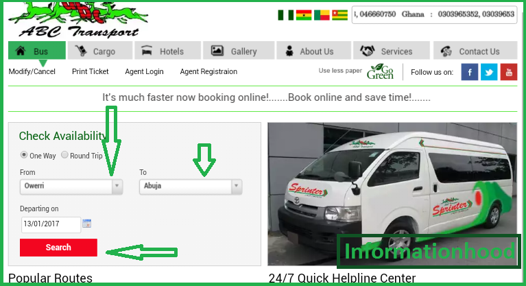 ABC Motors Online Booking: How to Book ABC Transport Ticket Online
