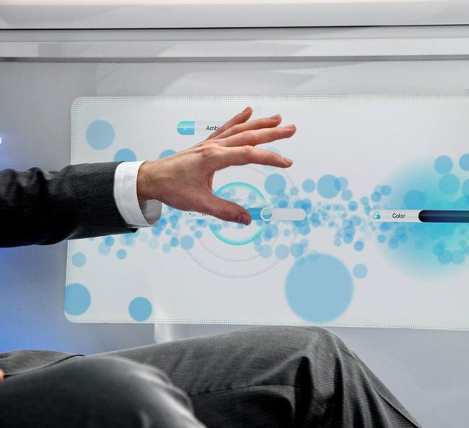 Mercedes driveless car screen touch control