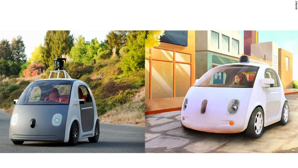 Check out the driverless car; it has no gas pedal, no brake and no steering wheel