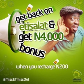 Get N4000 worth of airtime on your Etisalat free