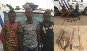 Nurudeen, Ehis and one other criminal arrested by the Lagos state police