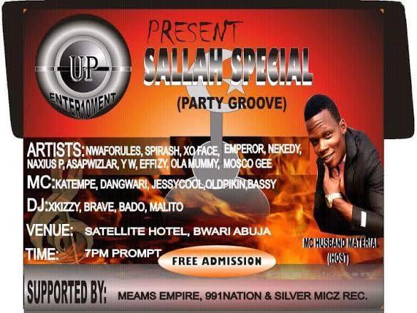 UP ENTERTAIMENT  SALLAH SPEACIAL PARTY GROOVE