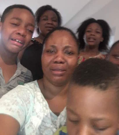 Mrs Uchennna Onwuamadike, Evans Wife and Children Crying