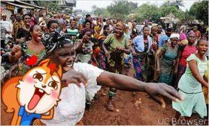 Badoo: Women protest at Ikorodu monarchs' palaces