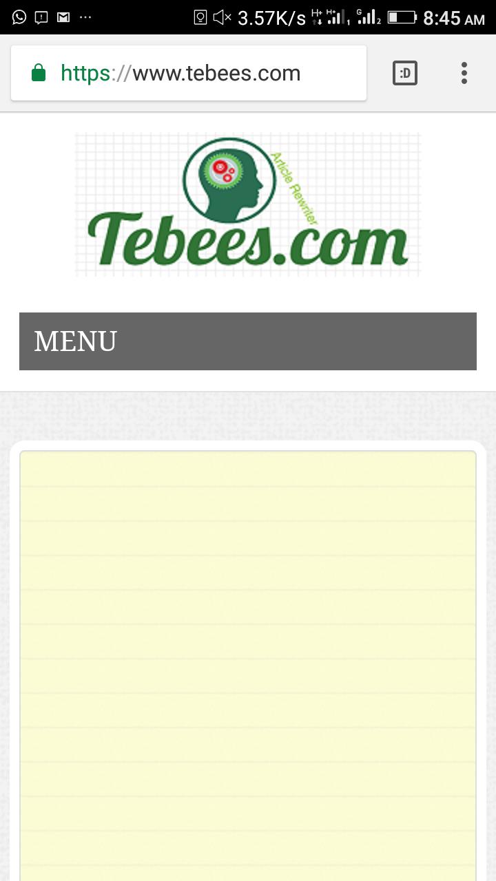 Tebees articles rewriter
