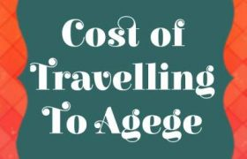 Transportation Cost to Agege Lagos